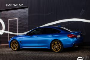 BMW 4 blue metallic matt