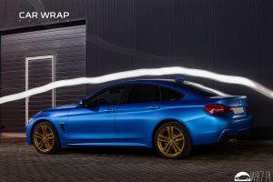 BMW 4 blue metallic matt
