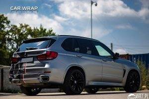 BMW X5 M half winter urban camouflage