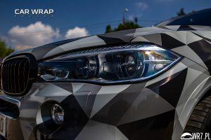 BMW X5 M half winter urban camouflage
